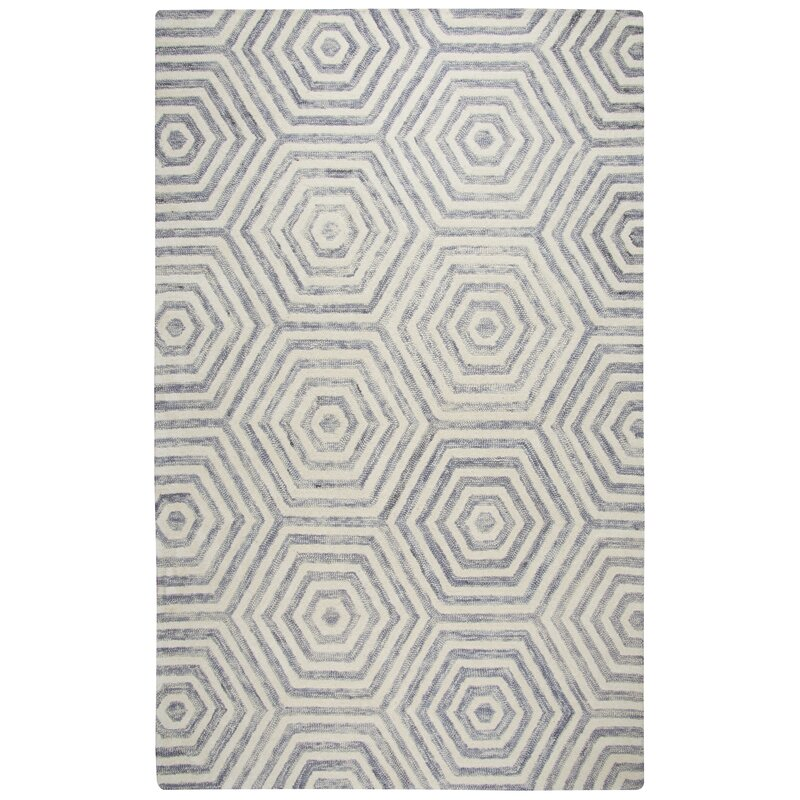 Malcolm Hand Tufted Wool Light Gray Area Rug
