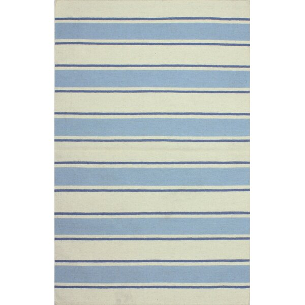 Rory Parchment & Sky Hand-Woven Area Rug by Birch Lane™