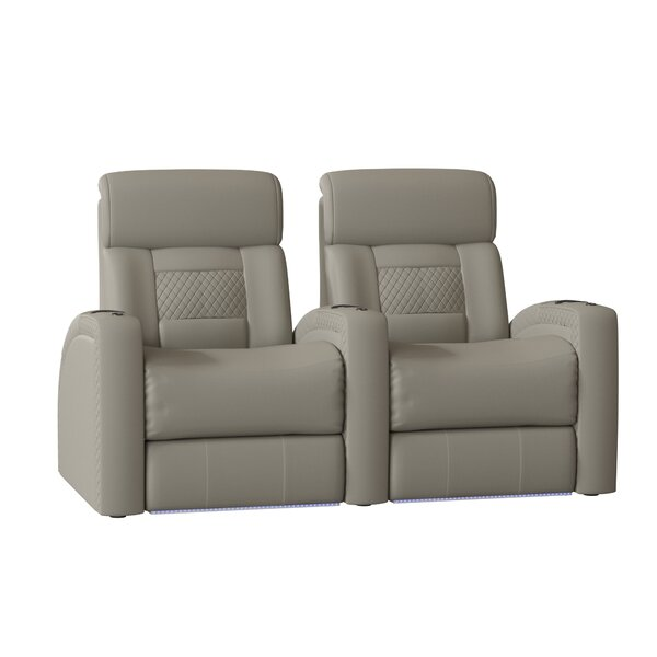 Diamond Stitch Home Theater Row Curved Seating (Row Of 2) By Latitude Run