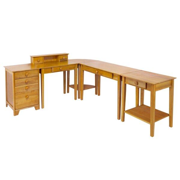 Studio Home 5 Piece L-Shape Desk Office Suite by Winsome