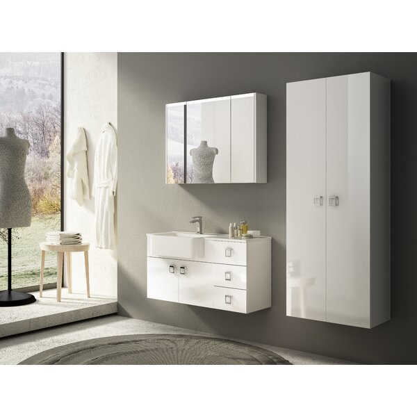 Herwarth 11.8'' W x 62.20'' H x 12.2'' D Wall Mounted Linen Cabinet