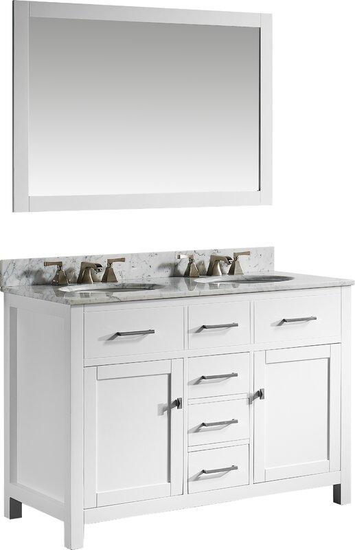 willa arlo interiors sverre 48 quot  double bathroom vanity set 48 Double Bathroom Vanity Grey 48 Double Bathroom Vanity Grey