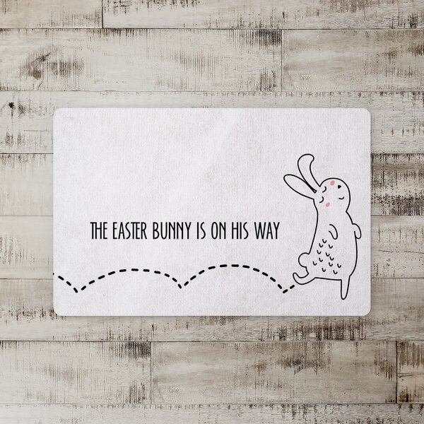 Sellers Bunny on the Way Kitchen Mat