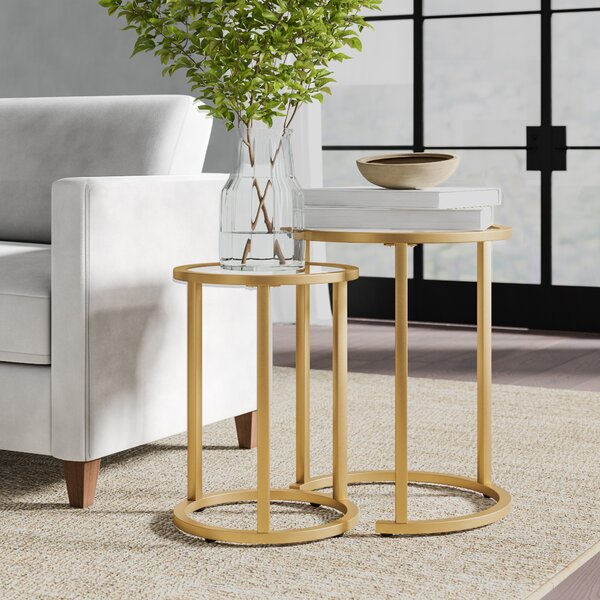 Up To 70% Off Morones Glam 2 Piece Nesting Tables