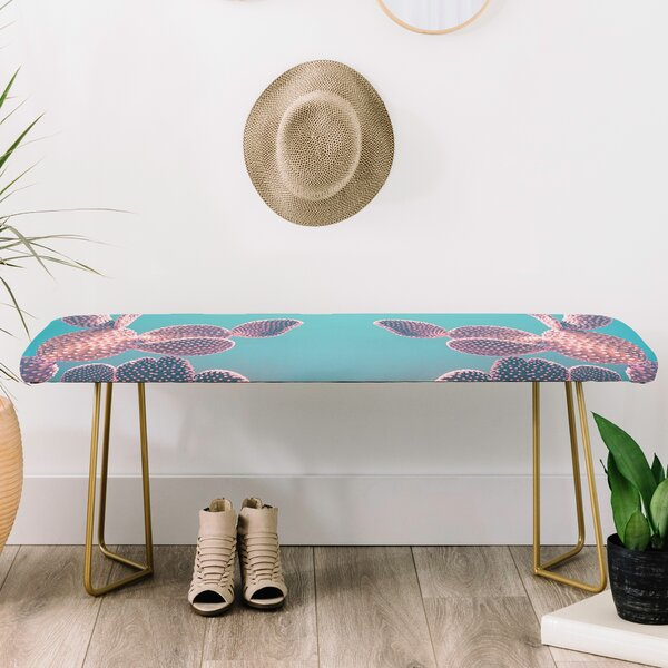Emanuela Carratoni Candy Cactus Upholstered Bench by East Urban Home East Urban Home