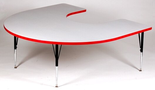 66 x 60 Horseshoe Activity Table by Correll, Inc.