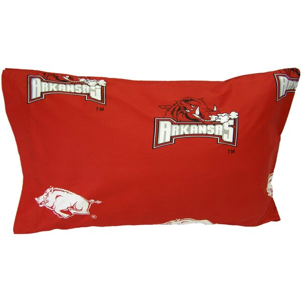 NCAA Arkansas Razorbacks Pillowcase (Set of 2) by College Covers