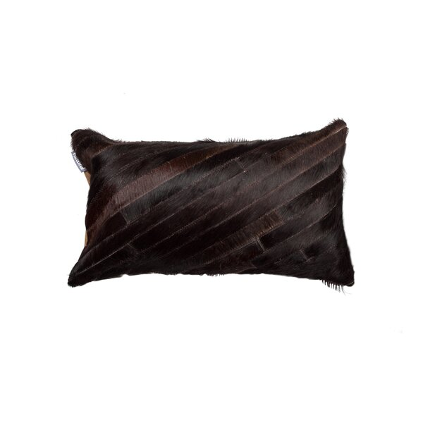 Graham Diago Leather Lumbar Pillow by Bloomsbury Market