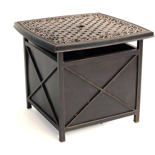 Carleton Aluminum Side Table by Fleur De Lis Living