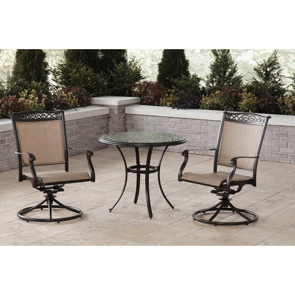 Bucher 3 Piece Bistro Set by Fleur De Lis Living