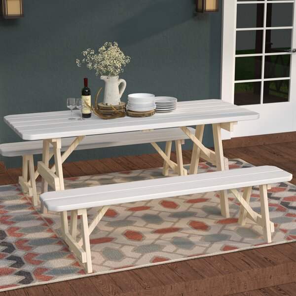 Summerhill Wooden Picnic Table by Loon Peak