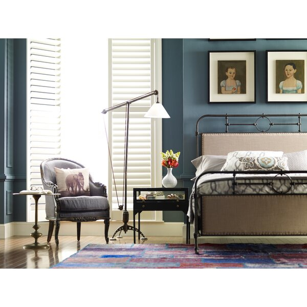 Sima Metal Upholstered Platform Bed by 17 Stories