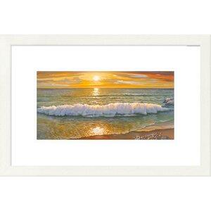 'Coastal Onda Della Sera' by Adriano Galasso Framed Graphic Art by Global Gallery