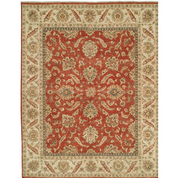 Royal Zeigler Hand-Knotted Beige/Orange Area Rug by Shalom Brothers