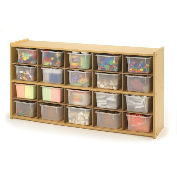 Value Line 20 Compartment Cubby with Trays by Ange