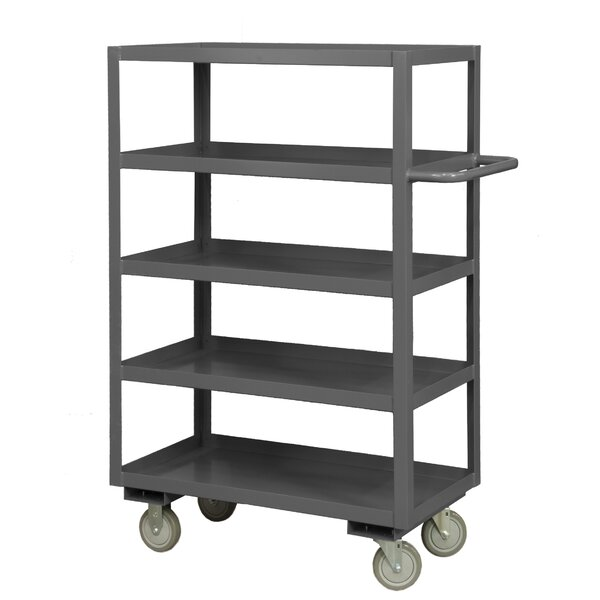 55.75 H x 48 W x 24 D 14 Gauge Steel Rolling Service Stock Cart by Durham Manufacturing