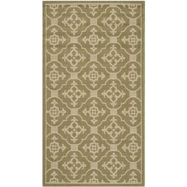 Herefordshire Olive / Creme Indoor/Outdoor Area Rug by Winston Porter