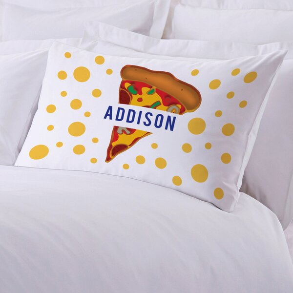 Personalized Kids Name Pizza Pillow Case by Monogramonline Inc.