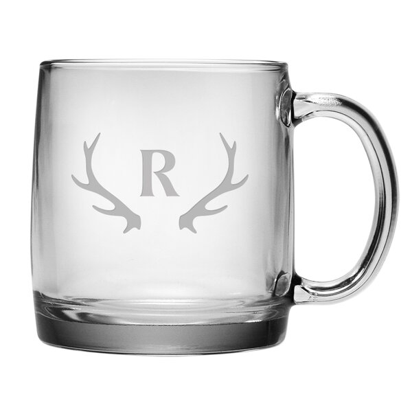 Personalized Antler Mug (Set of 4) by Susquehanna Glass