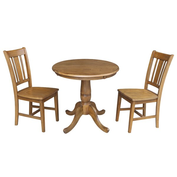 Polett 3 Piece Solid Wood Dining Set by Charlton Home