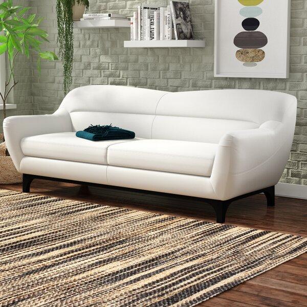 Kasia Mid-Century Leather Sofa by Brayden Studio