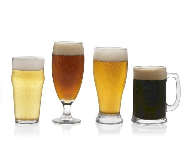 Craft Brews 4 Piece Glass Assorted Glassware Set by Libbey