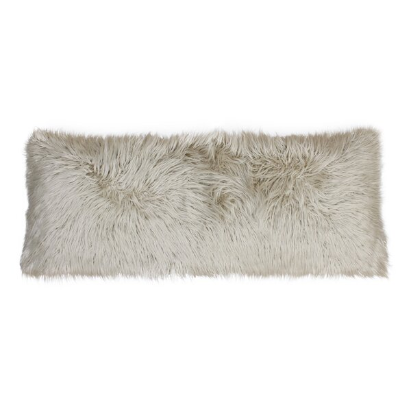 Hartt Mongolian Faux Fur Throw Pillow by Mercer41