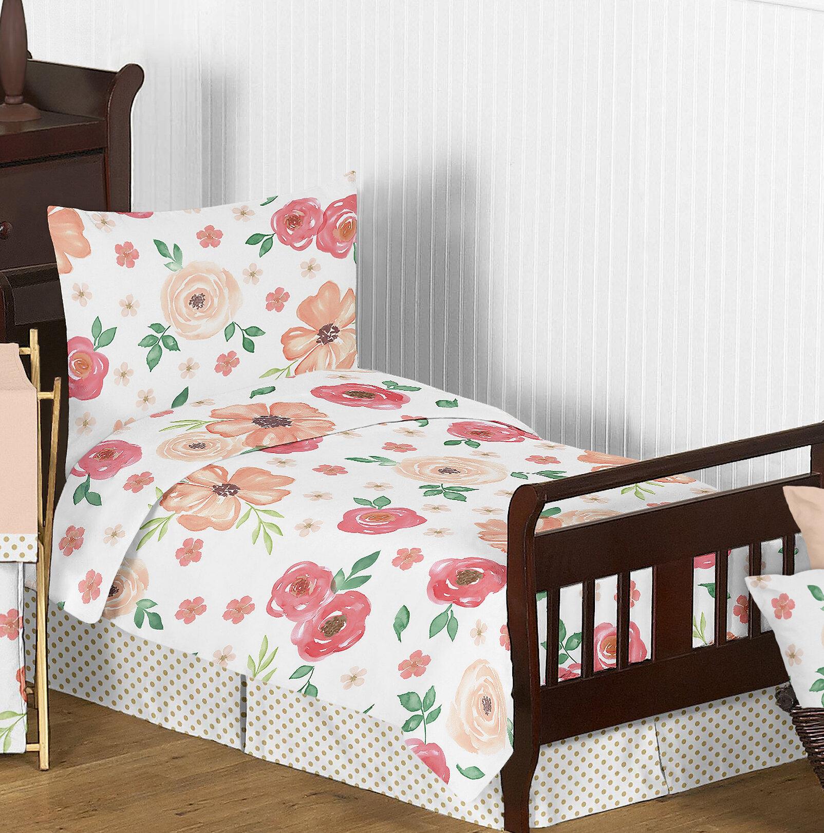 Sweet Jojo Designs Designer Dot Modern Bed Skirt For Toddler Bedding Sets
