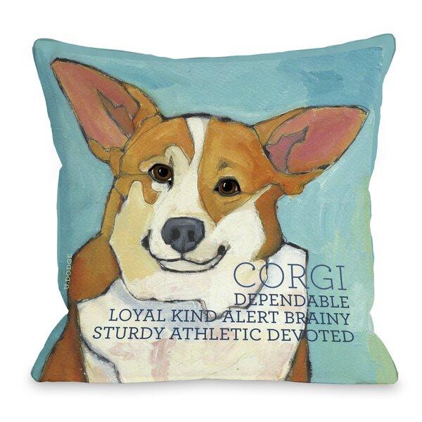 Doggy Décor Corgi Throw Pillow by One Bella Casa