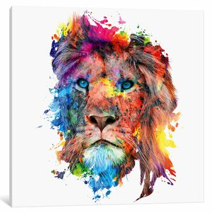'Lion' Graphic Art Print on Canvas by East Urban Home