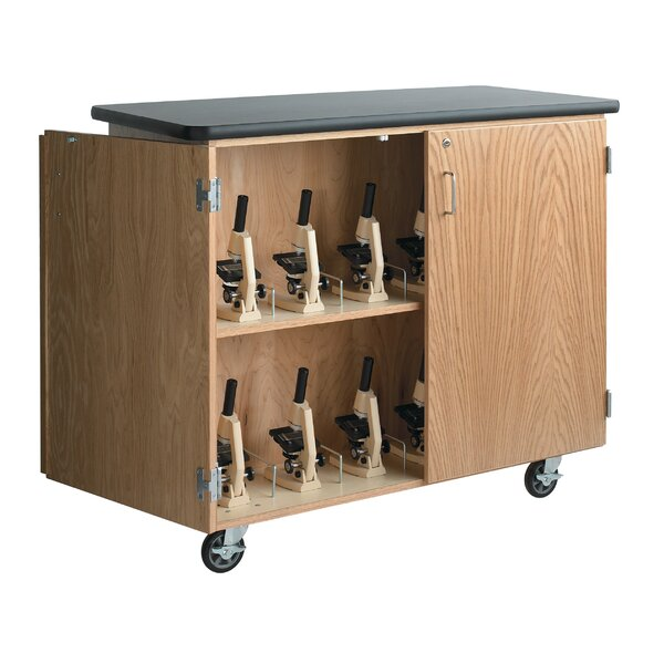 Mobile Microscope Storage Cabinet by Diversified Woodcrafts