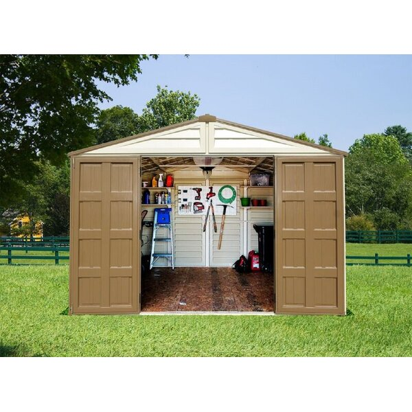 Woodbridge Plus 10 ft. 8 in. W x 8 ft. 1 in. D Plastic Storage Shed by Duramax Building Products