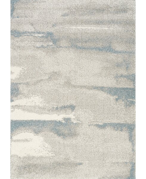 Kara Cream/Blue Area Rug by Latitude Run