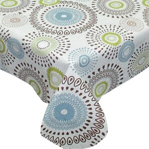 Amazing Nate Contemporary Whimsy Print Flannel Back Vinyl Tablecloth