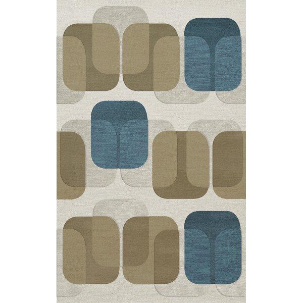 Bella Machine Woven Wool Gray/Brown Area Rug by Dalyn Rug Co.