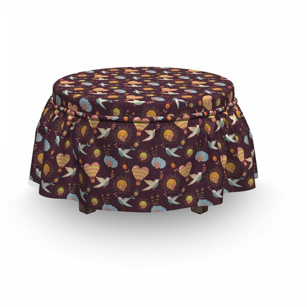 Puffy Clouds And Sun Ottoman Slipcover (Set Of 2) By East Urban Home