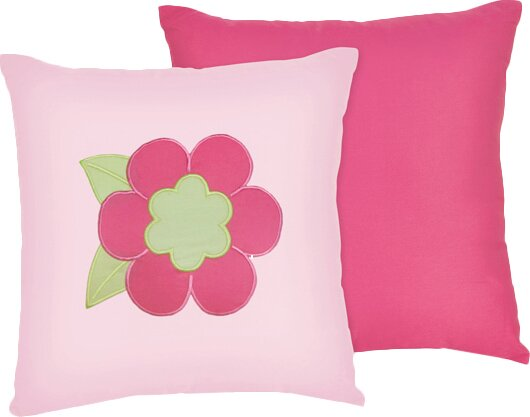 Flower Cotton Throw Pillow by Sweet Jojo Designs