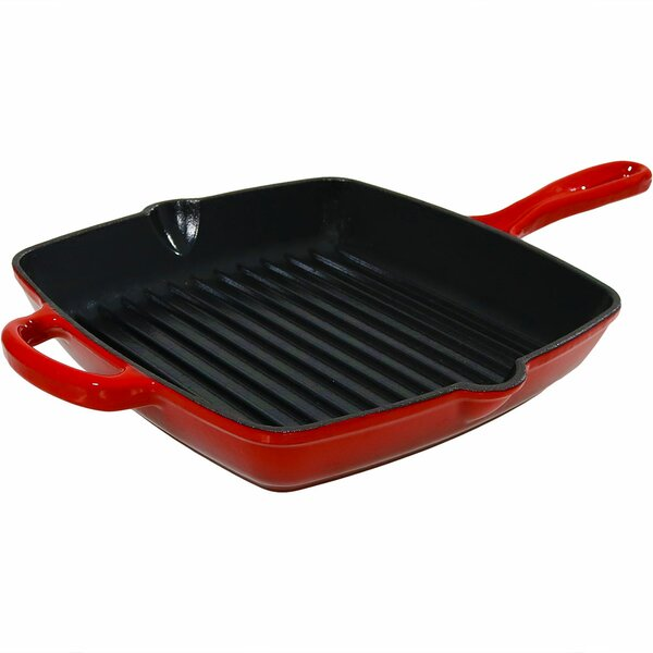 Gianna Enameled Cast Iron Pre-Seasoned Square Skil