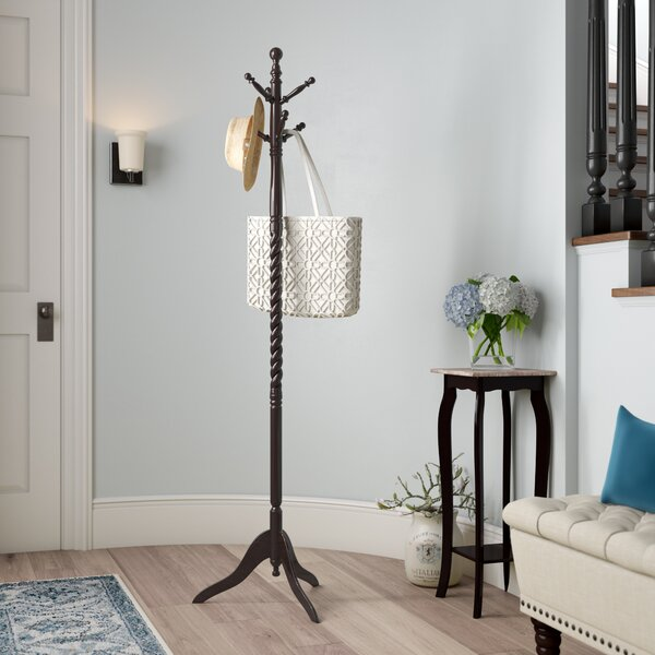 Twisted Center Coat Rack by Charlton Home