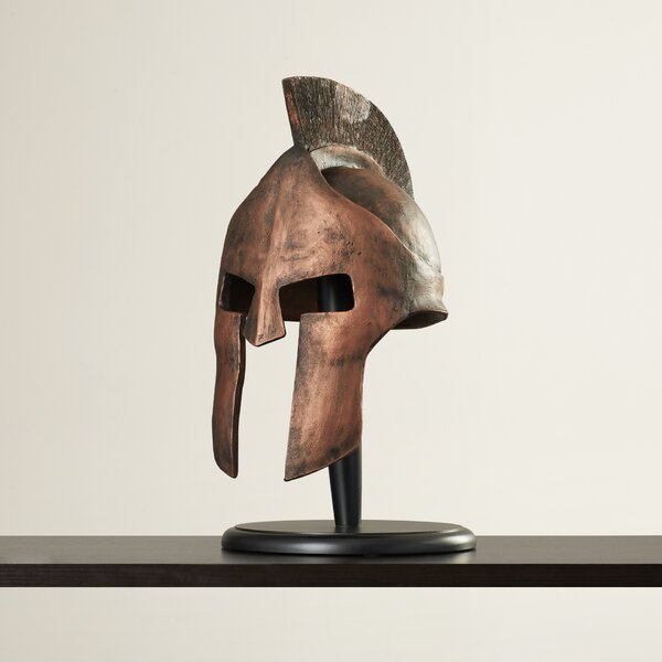 Greek Spartan Helmet Sculpture by World Menagerie