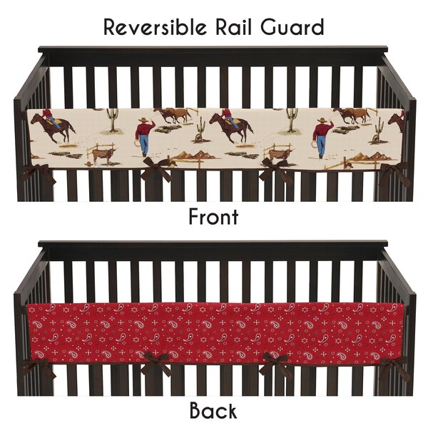 Wild West Long Crib Rail Guard Cover by Sweet Jojo Designs