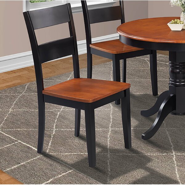 Charlestown Solid Wood Dining Chair (Set of 4) by Alcott Hill