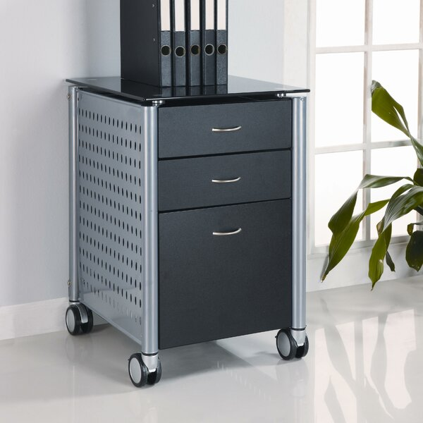 Irving 3-Drawer Mobile Vertical Filing Cabinet by Winston Porter