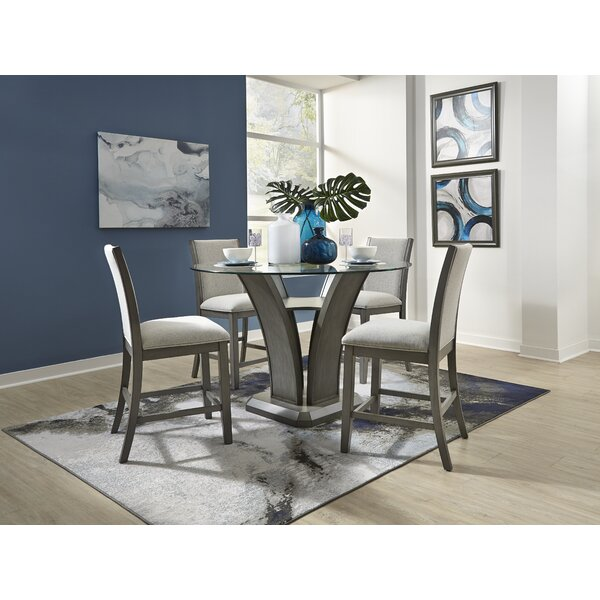 Zayden 5 Piece Pub Table Set by Gracie Oaks