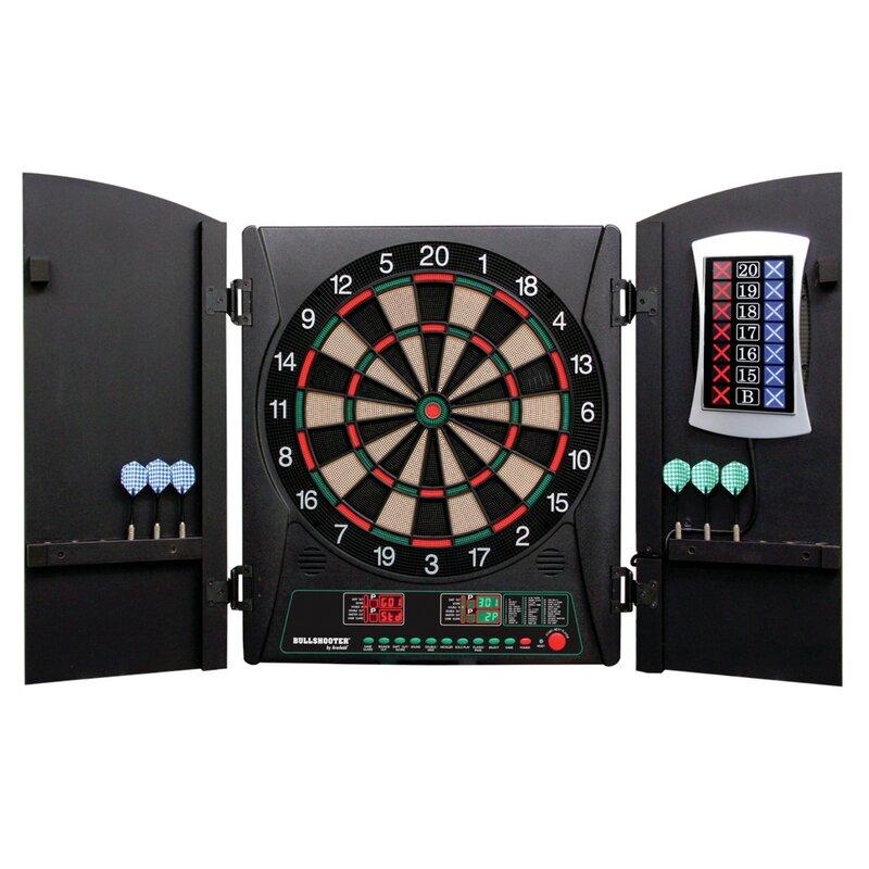Cricketma 3 Piece 1 0 Electronic Dartboard Cabinet Set
