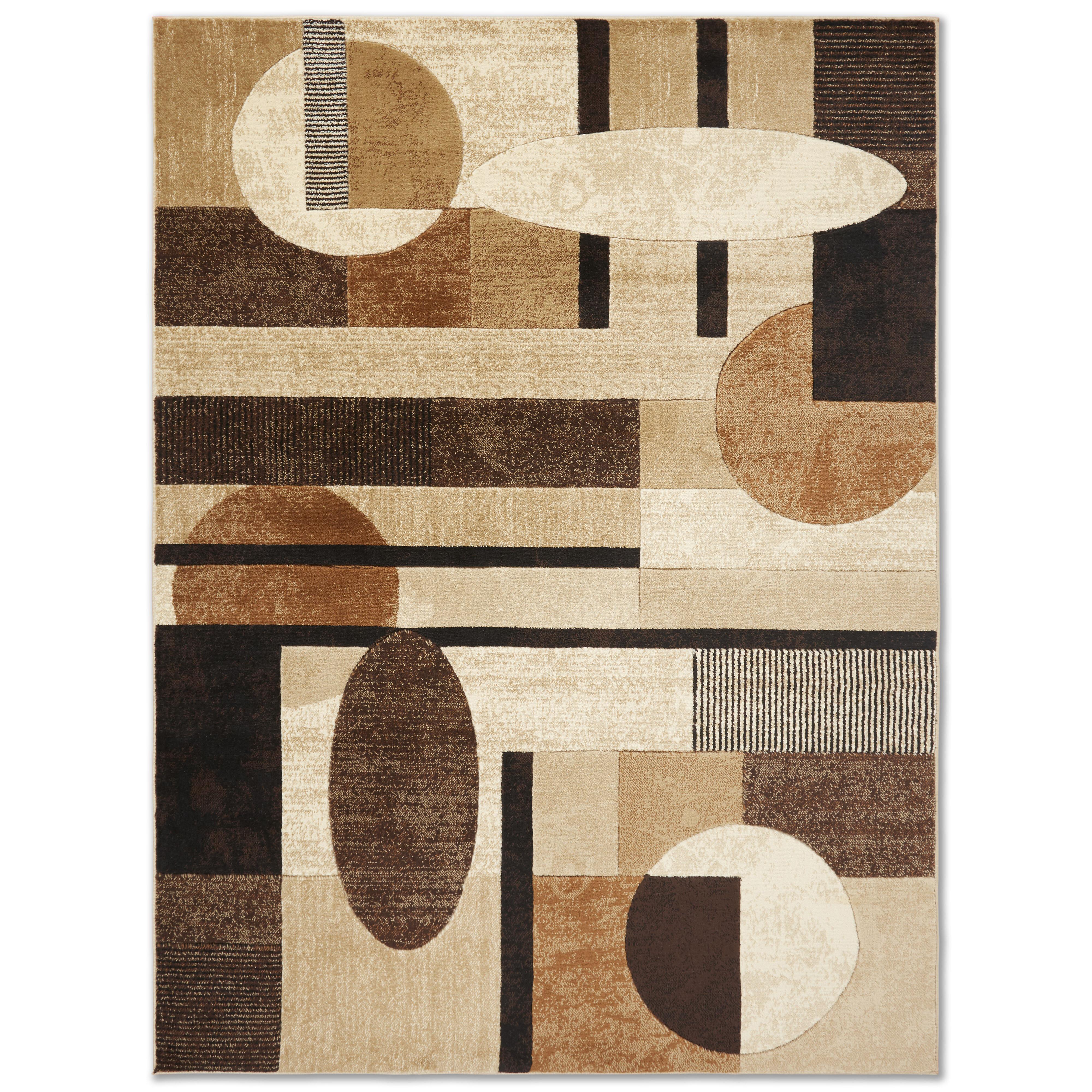Zipcode Design Nolan Modern Geometric Beige Brown Black Area Rug Reviews Wayfair