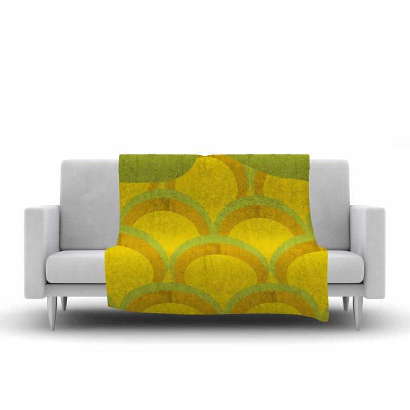 east urban home kathleen kelly pineapple digital food fleece blanket