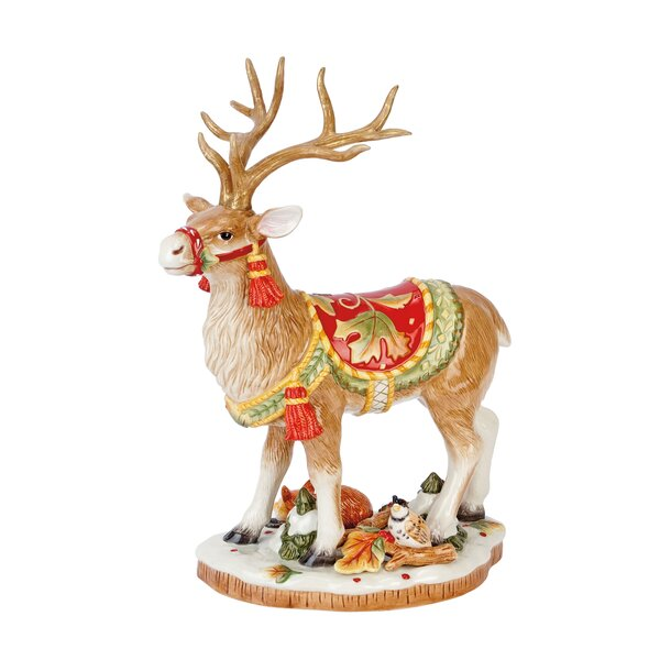 Bountiful Holiday Deer Figurine by Fitz and Floyd