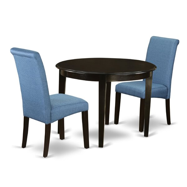 Lorena Small Table 3 Piece Solid Wood Breakfast Nook Dining Set by Winston Porter