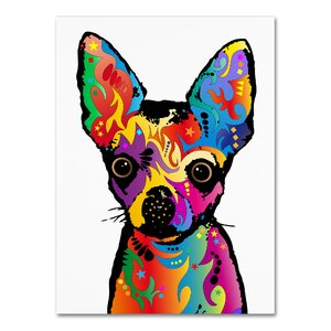 Chihuahua Dog White Graphic Art on Wrapped Canvas by Latitude Run